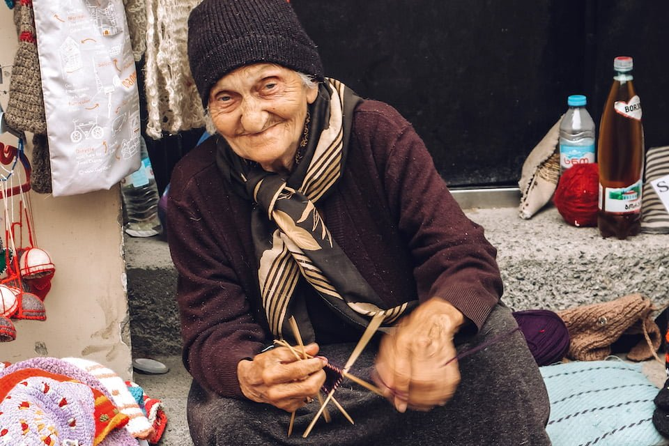 Anziana a Sighnaghi