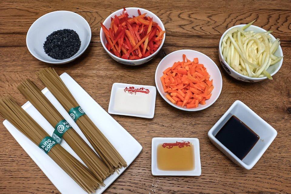 Ingredienti zaru soba vegani