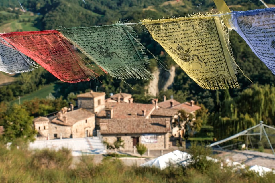 Bandiere di preghiera tibetane