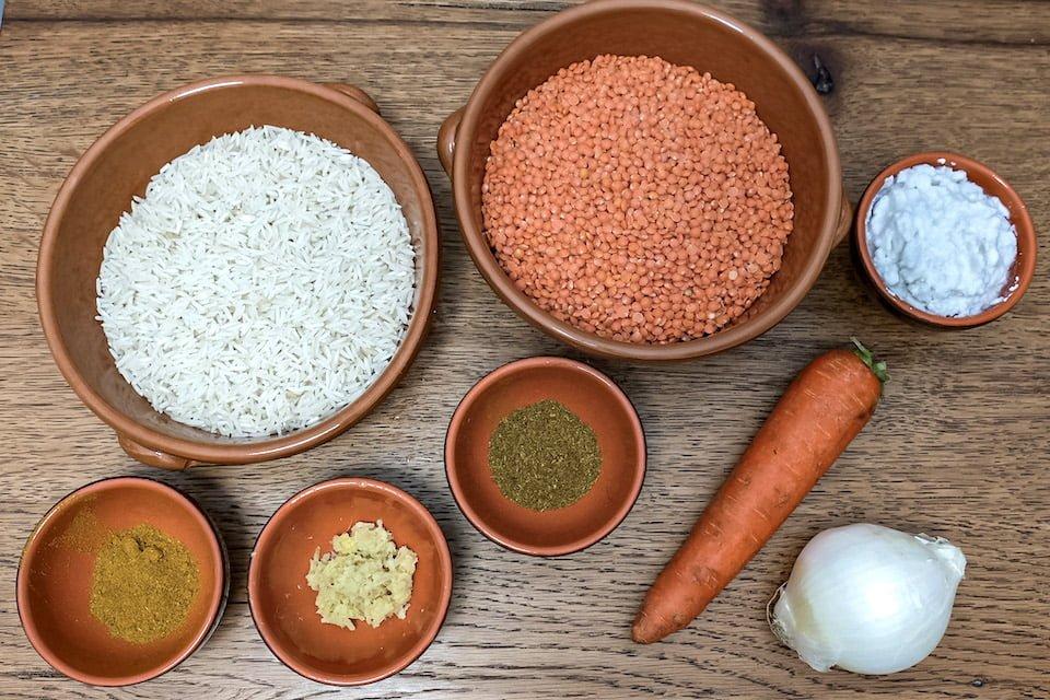 Ingredienti dhal di lenticchie